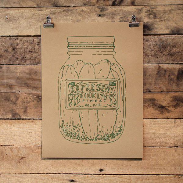 Brooklyn's Finest Pickle Jar