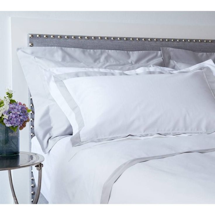 Milano Grey Trim Bed Linen | Luxury Bed Linen