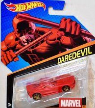 Hot Wheels 1:64 Marvel Character Car, Daredevil [Red] Die-Cast Vehicle #28