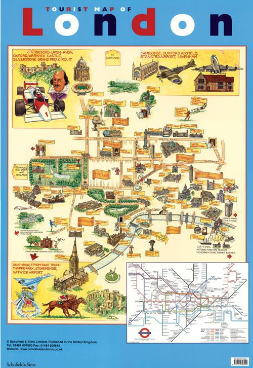Map Of London Attractions for Pinterest - an image part of Hong Kong tourist map