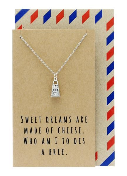 Rei Kitchen Charm Necklace, Funny Greeting Card, Gift for Chefs
