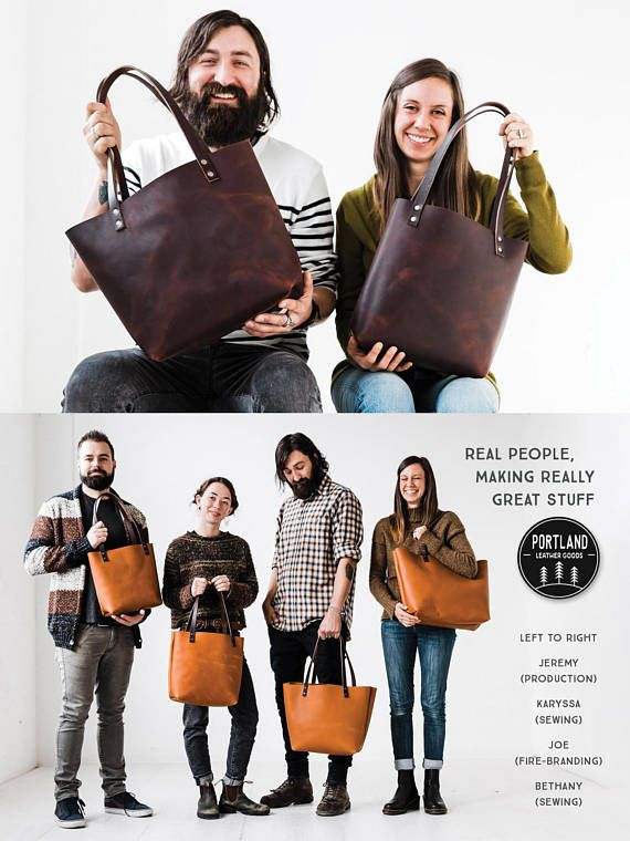 • • • • • • HUGE 50% OFF SALE • FULL-GRAIN LEATHER TOTE BAGS • • • • • • OUR BEST PRICES EVER!! All Sizes on Sale!! For Example: Large Tote $320... on SALE for $160 Medium Tote $280... on SALE for $140 LEATHER COLORS AVAILABLE: Saddle w/Tan Handles AND Saddle w/Dark Handles Black