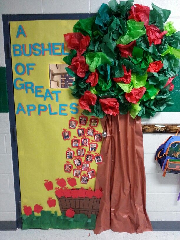 Fall Classroom Door Apple Theme Classroom Fall