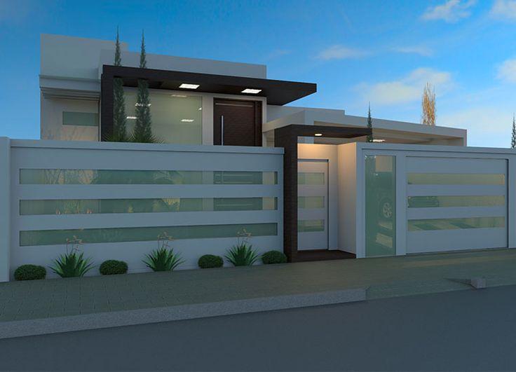 Las 25 mejores ideas sobre fachadas de muros residenciais for Las mejores casas modernas