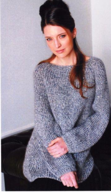 Пуловер. Спицы..