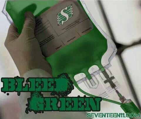 Bleed Green with the Riders !