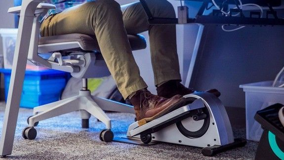 Annoy your coworkers with this under-the-desk elliptical machine #ellipticalsmachine