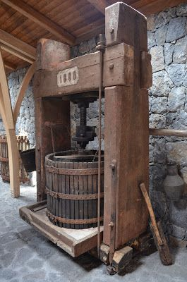 *Vintage Wine Press in Sicily.@Leading Wineries of Napa.