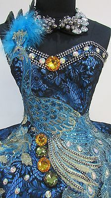 Da NeeNa C083 Peacock Queen Showgirl Vegas Cabaret Dance Dress XS XL | eBay