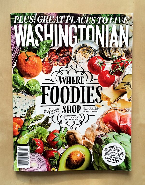 lettering created for washingtonian magazine s april 2014 where foodies shop issue