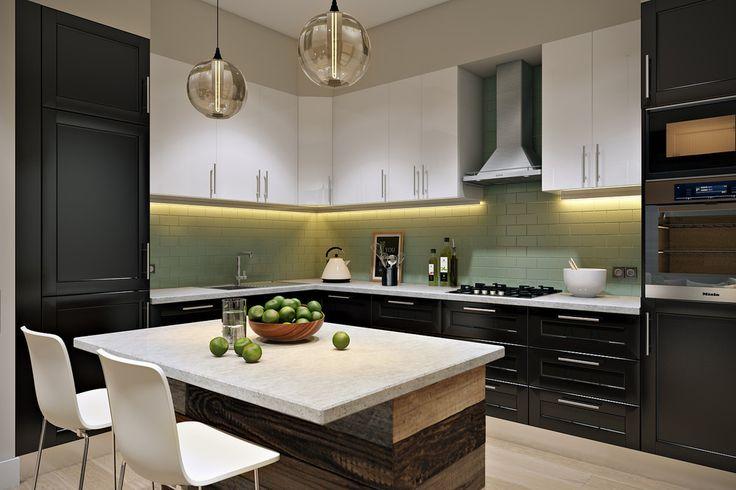 Мятный лофт - Кухня в современном стиле | PINWIN - конкурсы для архитекторов, дизайнеров, декораторов