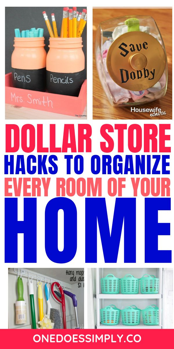 DOLLAR STORE HACKS to organize every room of your home