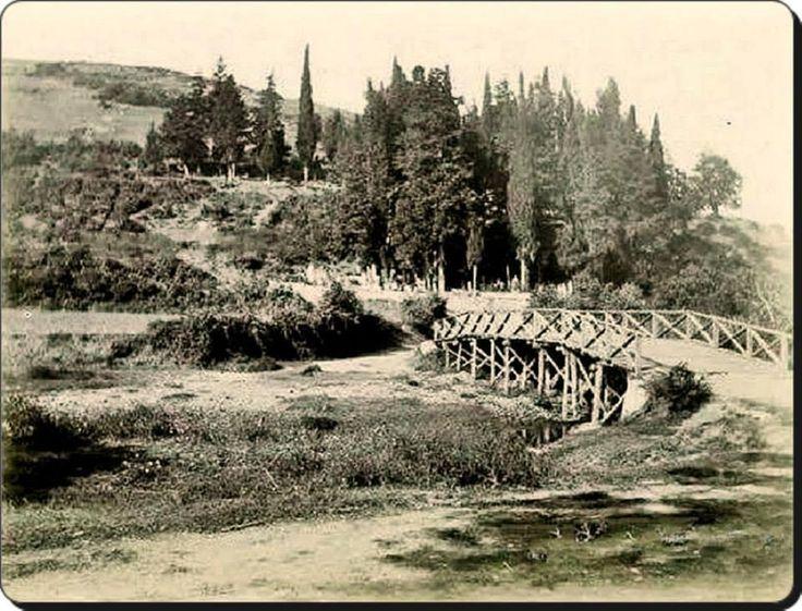 Anadoluhisarı / Küçüksu / Hekimbaşı yolundan Sevda tepesi ve eski köprü - 1890 lar
