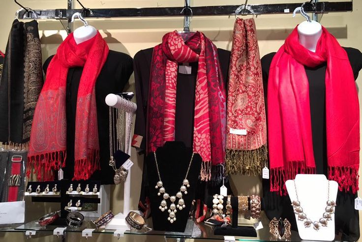 Red Scarves - perfect gift for Valentine's Day.