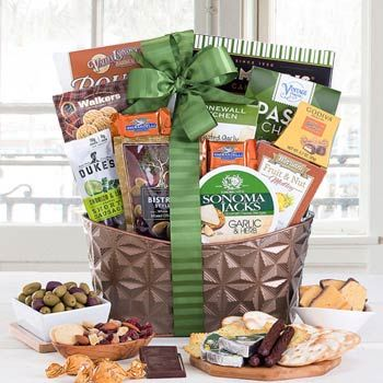 Corporate Gourmet Basket, great for all occasions! See more at www.pro-gift-baskets.com!