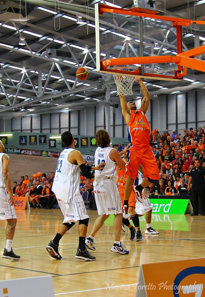 2nd home game - Southland Sharks v Wellington Saints at Stadium Southland.  April 28th, 2013.  Sharks 75-83 Saints.  See our website for the story.