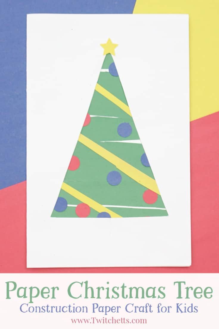 How To Make An Easy Paper Christmas Tree Build Scissor Skills In 2020 Paper Christmas Tree Christmas Tree Crafts Construction Paper Crafts