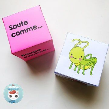 FREE French Brain Break Dice: insects. Students losing focus? Or just tired? Time for a brain break! Roll these dice and get your kiddos moving and re-focusing!