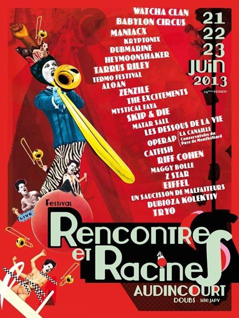 Agenda Audincourt   Festival Rencontres et racines - Du 21 au 23 juin 2013 - Filature Japy