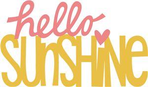 Silhouette Design Store - View Design #25275: hello sunshine phrase