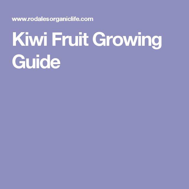 Kiwi Fruit Growing Guide