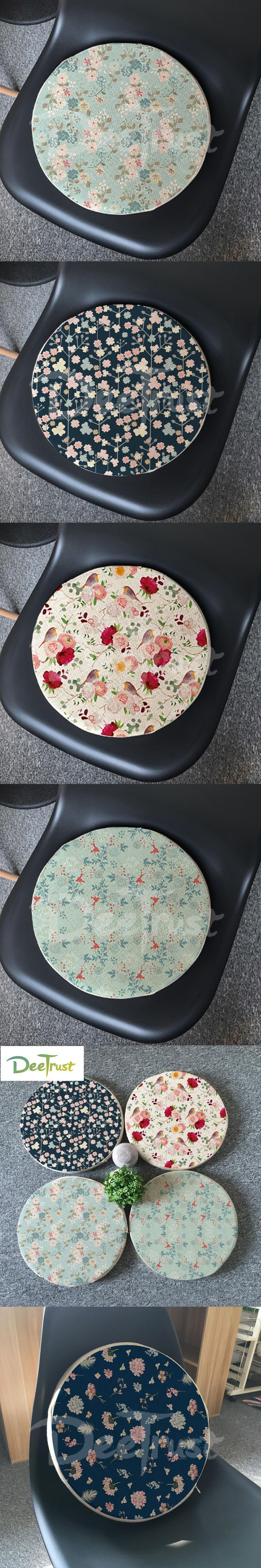 Japanese Cotton Linen Pillow Kids Round Seat Cushion Thick PP Cotton Balcony Throw Pillow Flower Tatami Washable Cojines Silla