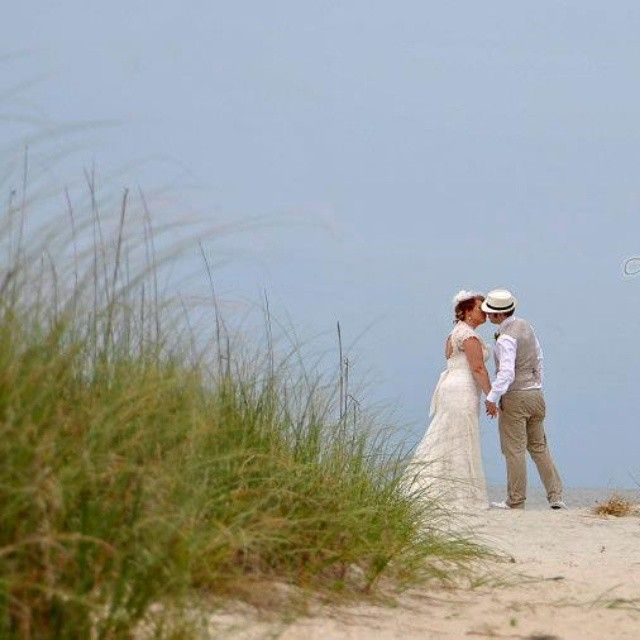 How About A Beach Wedding With True Southern Flair Photo Via