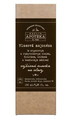 Vlasová majonéza Havlíkova apoteka (150 ml). Využijte naší dopravu zdarma při nákupu nad 890 Kč. Váháte? Přijďte se podívat do našeho showroomu v Praze, kde máme k dispozici všechny testery.