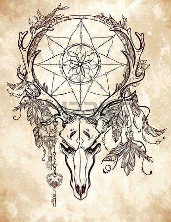 tete mexicaine: Bel art crâne de tatouage. Vintage, cerfs, élans, taureau…                                                                                                                                                                                 Plus