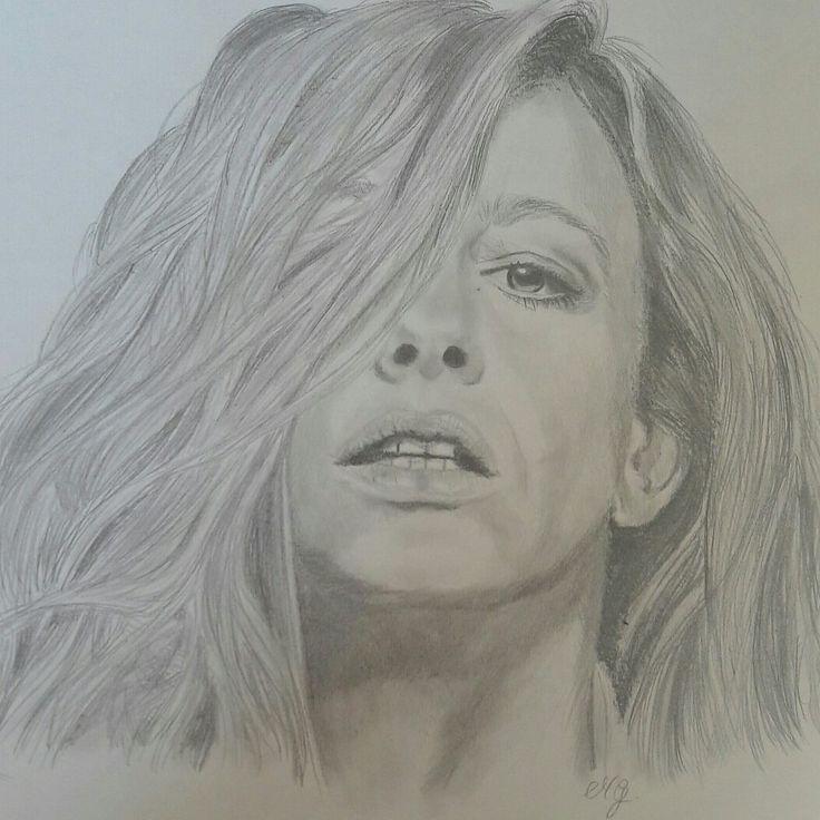 Disegno a matita ritratto di donna