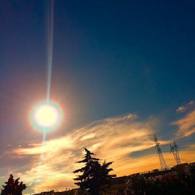 #sky #city #sun #cloud #iPhone   by Tryfon Tobias Pliatsikouris