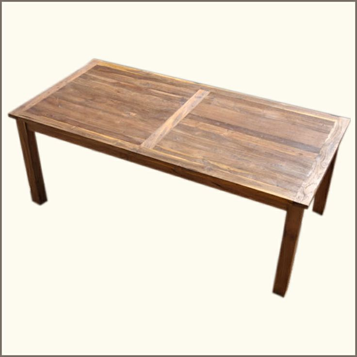 Rectangular Farmhouse Rustic Dining Table Made Of Teak