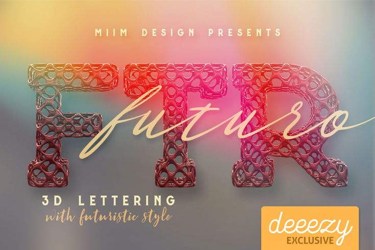 Futuro 3D Lettering | Deeezy - Freebies with Extended License