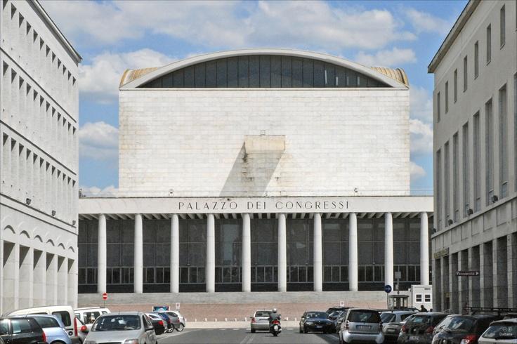 Palazzo dei Ricevimenti e dei Congressi // by Adalberto Libera