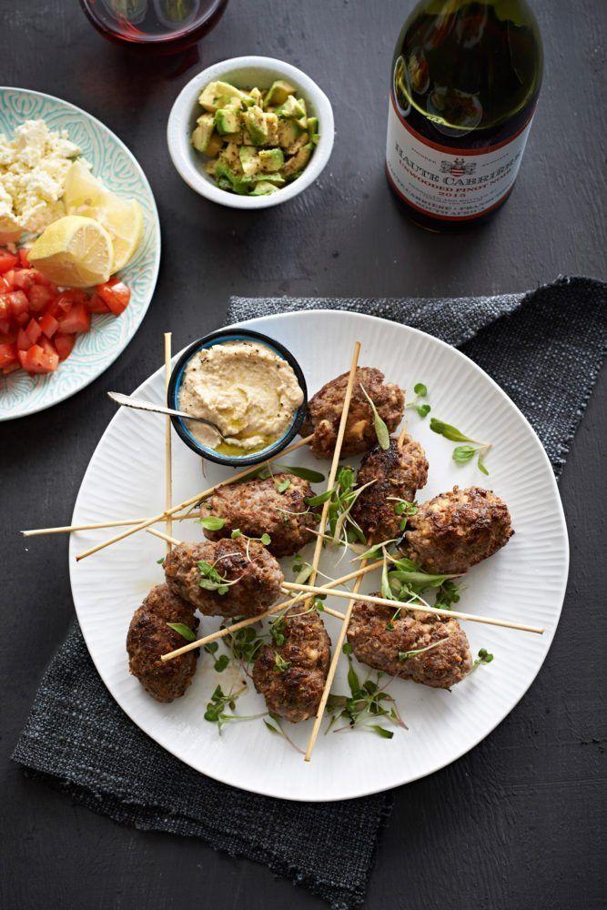 Fiery Lamb Koftas with Hummus - Sarah Graham Food