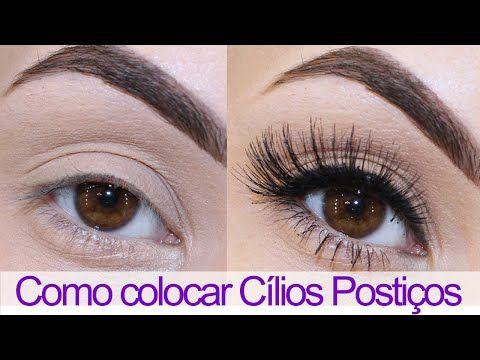 Como colocar Cílios Postiços - Bruna Malheiros Makeup : Bruna Malheiros Makeup