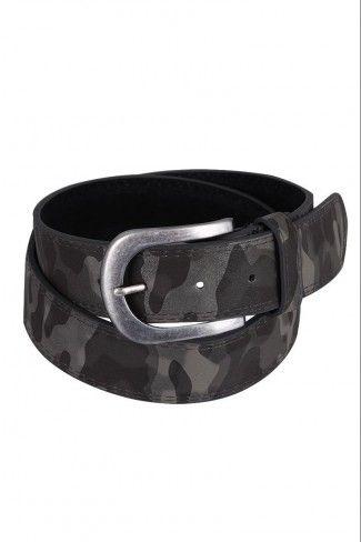 Army look ζώνη με αγκράφα  - Μαύρο