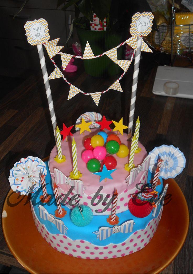 """Gâteau """"Fête Foraine"""" pour les 9 ans de ma fille"""