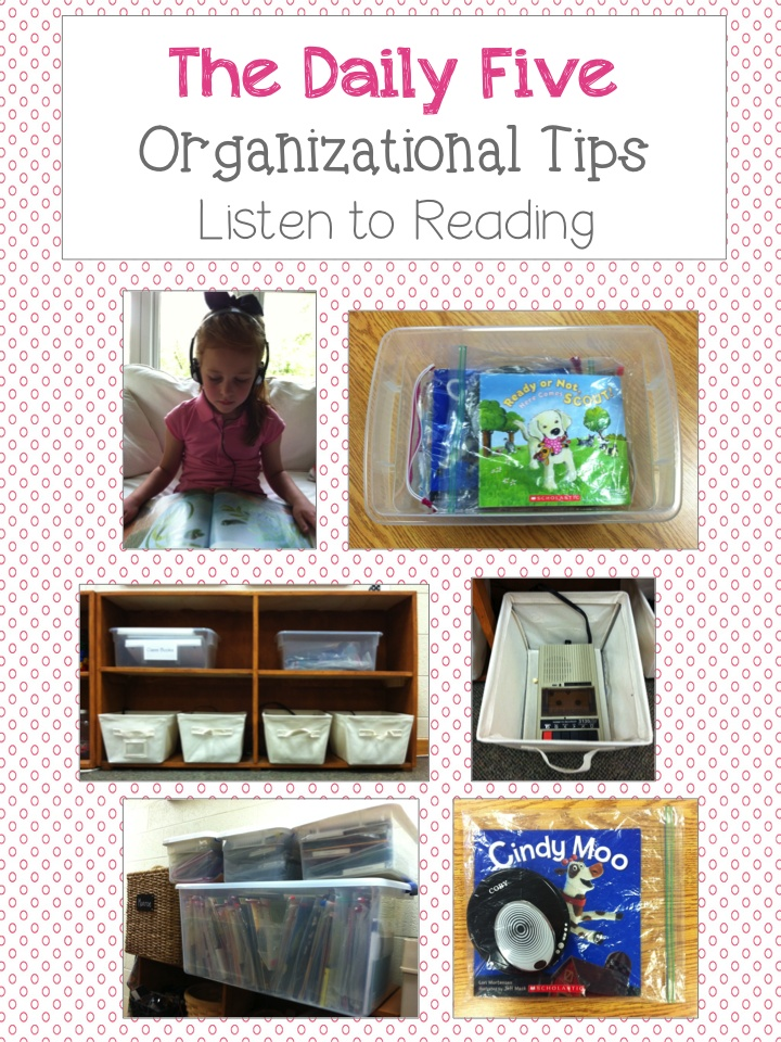 Daily Five Organization  schoolisahappyplace.blogspot.com