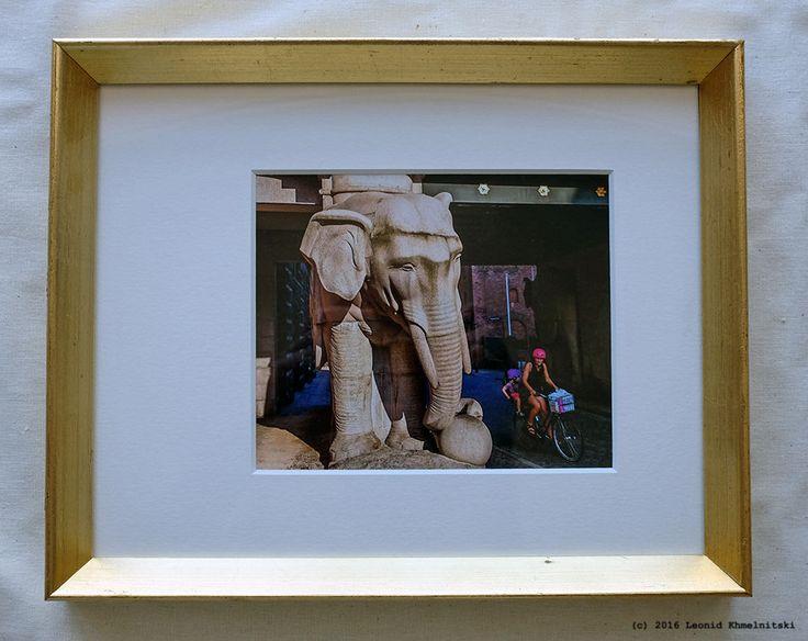 My photo  Carlsberg Gate  in Danish light wood frame