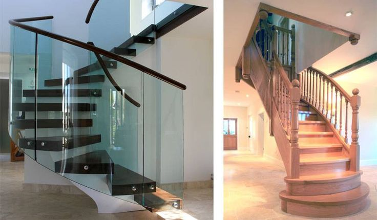 Escalier double quart tournant (à gauche) et escalier quart tournant (à droite). © Compagnons du devoir et du tour de France