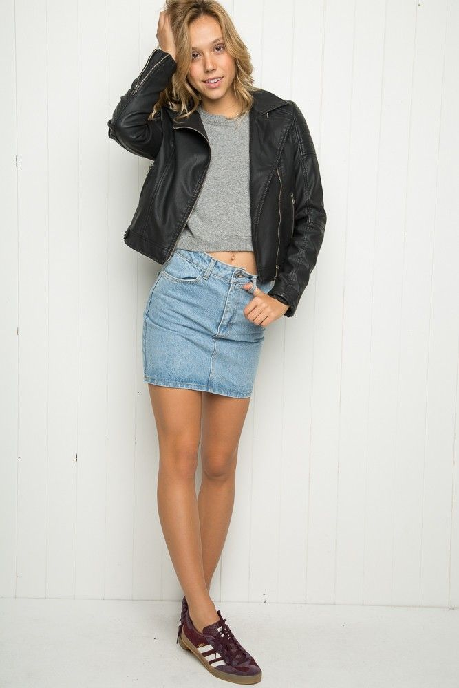 Brandy ♥ Melville | Lea Denim Skirt - Skirts - Bottoms - Clothing ...