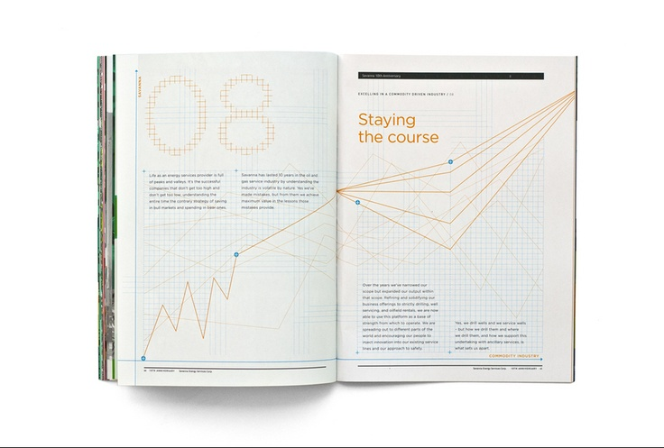 Graphis / Public Viewing | 100 Best Annual Reports 2012 - line graphs