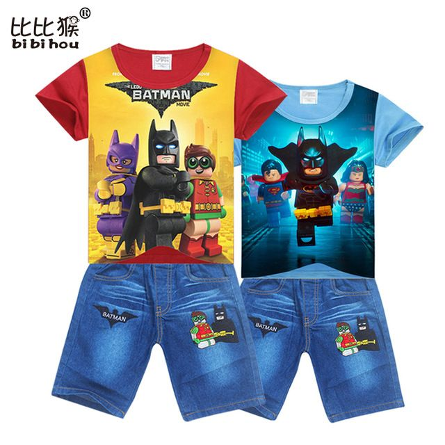 Check lastest price bibihou red boy sport suit batman jean Toddler suit for boy Clothing Set spiderman Cotton boys shorts fashion child kids clothes just only $11.03 - 11.98 with free shipping worldwide  #boysclothing Plese click on picture to see our special price for you