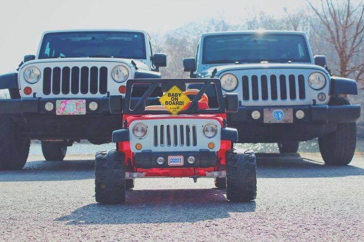 Future baby announcement. #jeep