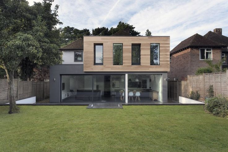 Medics house Glass and Timber Addition to a 1950′s Hampshire House, Hampshire, England
