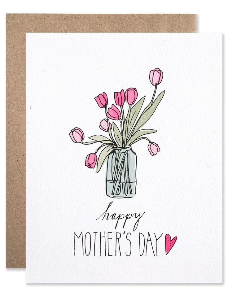 Нарисовать открытку на день рождения для мамы