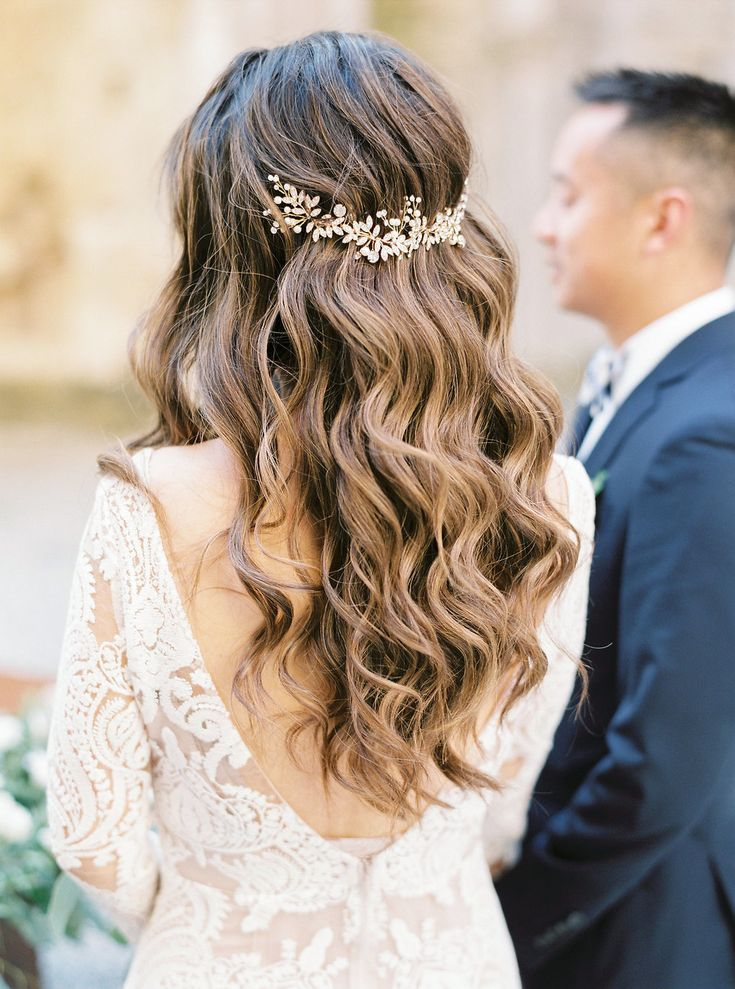 The Tiniest Wedding With The Grandest Heart In Tuscany Italy Wedding Hair Half Wedding Hair Headband Wedding Hair Down