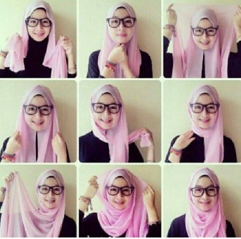 if wear glasses and you struggle with your hijab because the specs are always meesing it up, try this ! :D