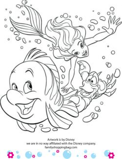 Printable Little Mermaid coloring pages